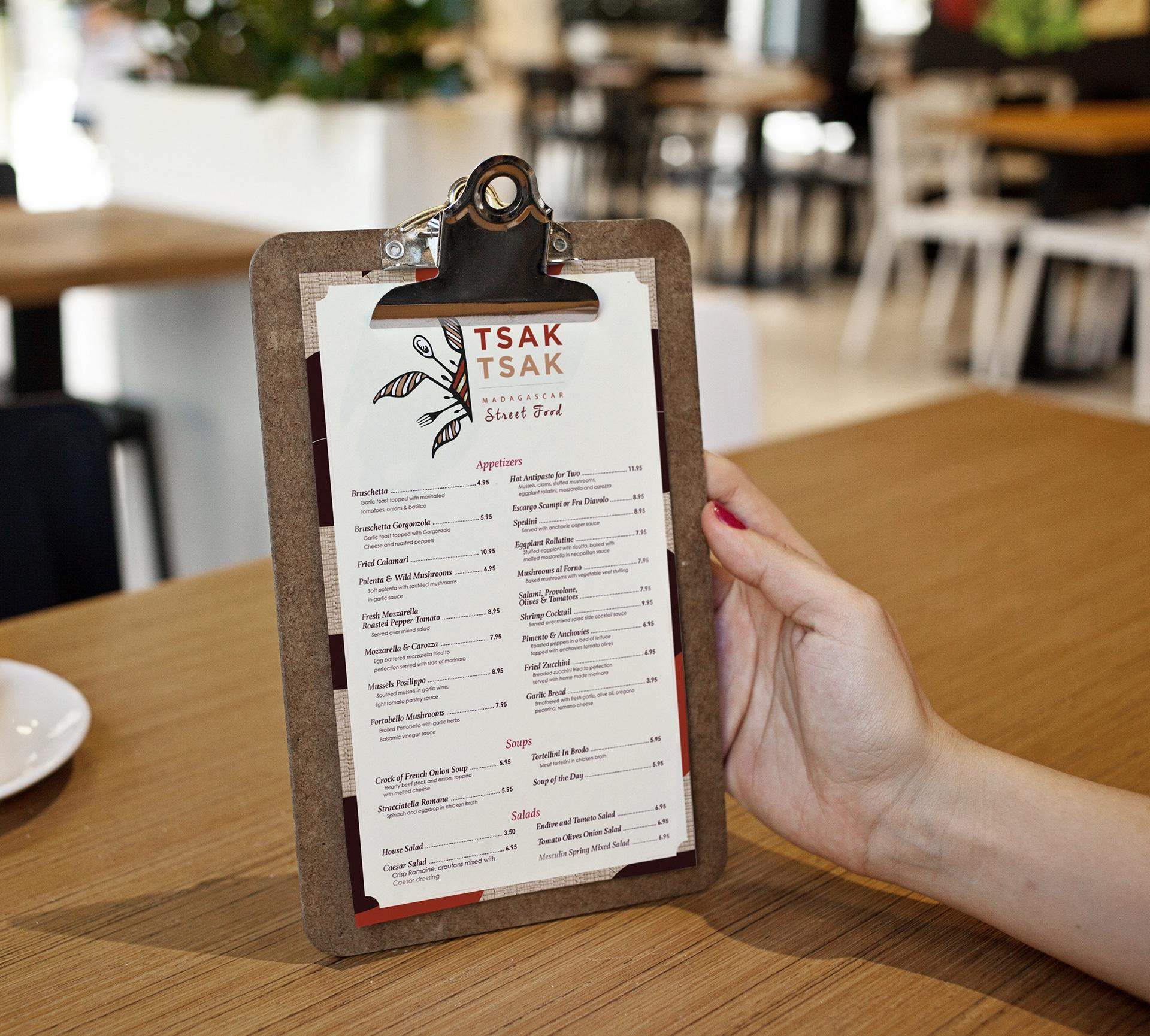 Menu branding, mise en situation, cuisine, recette, restaurant, traiteur , graphisme