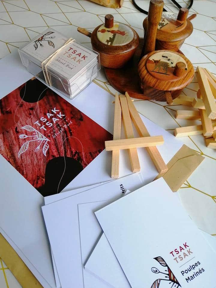 Papeterie, tsak tsak madagascar street food, carte de visites