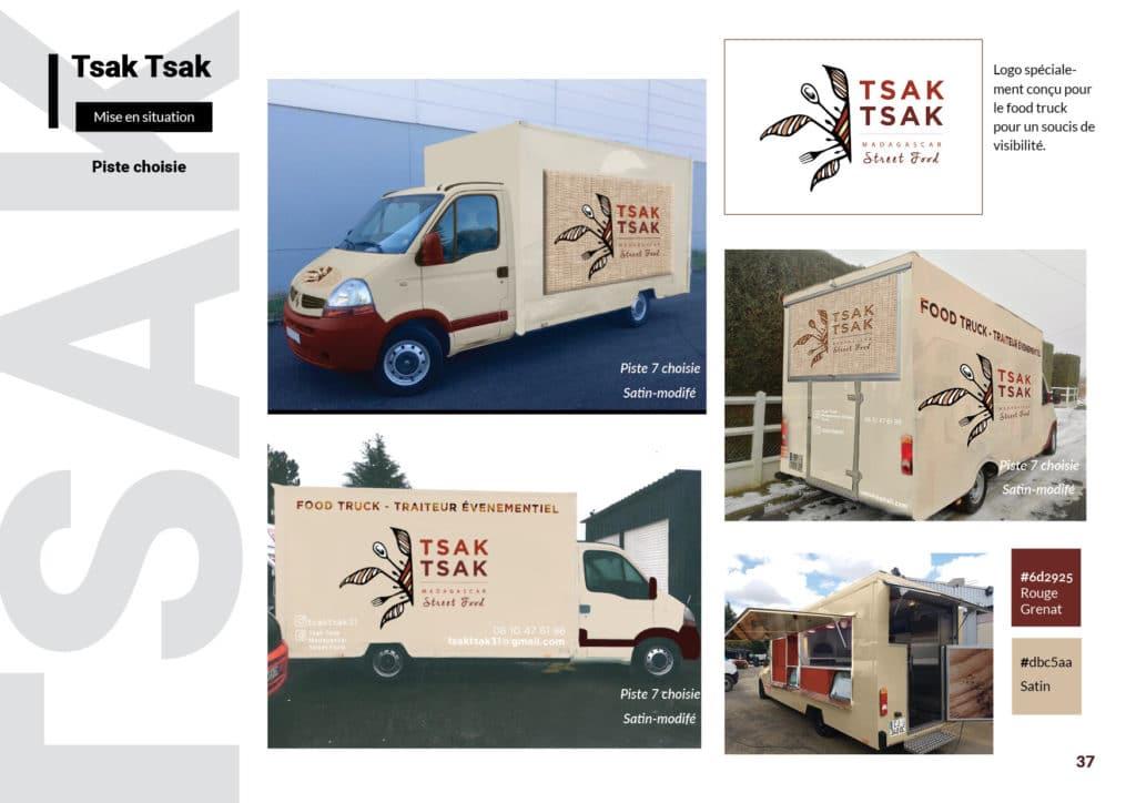 planche de recherche food truck , visuel, communication, couleur, logo, designer, imprimeur
