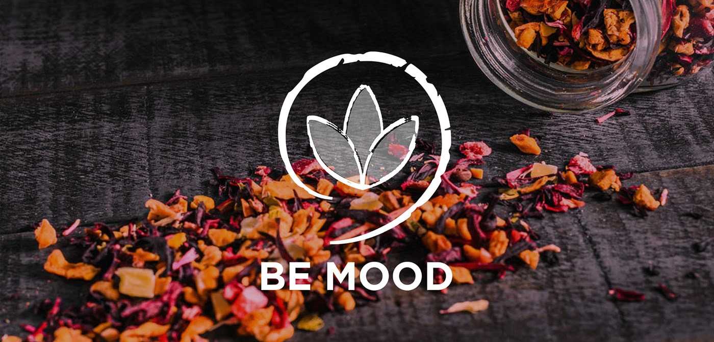 Logo branding infusion Be Mood conçu par Alizée Laurence