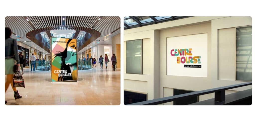 Centre Bourse Projet, Mise en situation, intérieur, visuel, Centre Bourse Logo