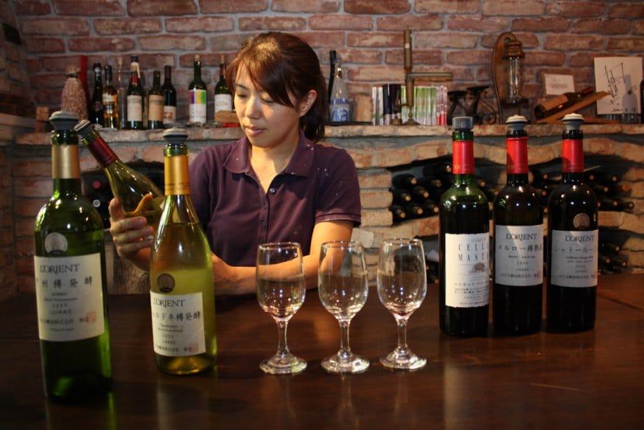 Vin Rouge, ambiance, vignoble japonais
