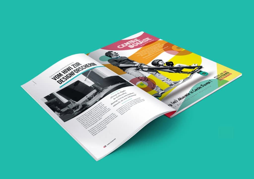 Annonce Presse, Communication, Publicité, Magazine, Centre Bourse, Appel d'Offre, mise en page