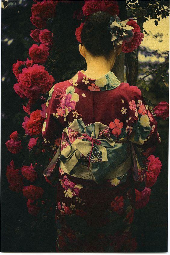 Japon, Japonaise, Kimono, Fleur, Florale