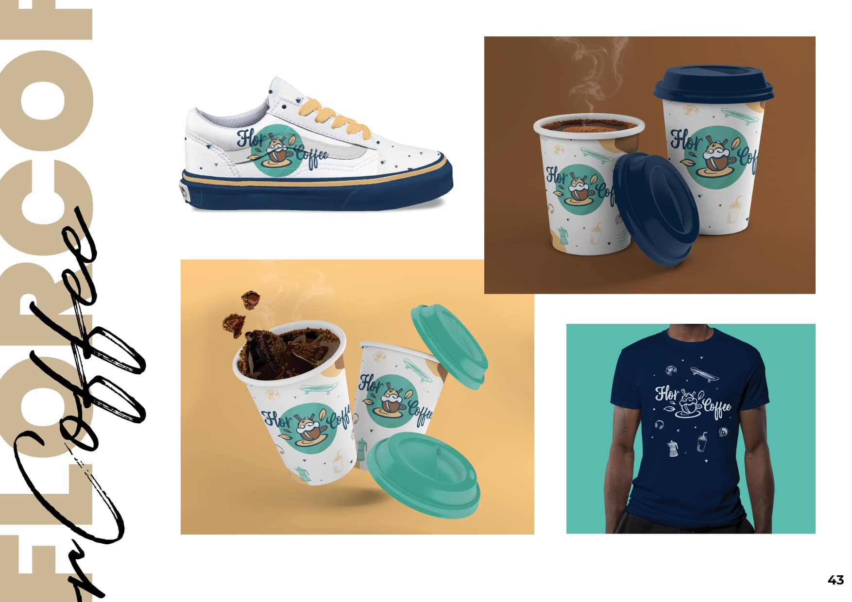 Charte Graphique - FlorCoffee, branding, t shirt, merchandising