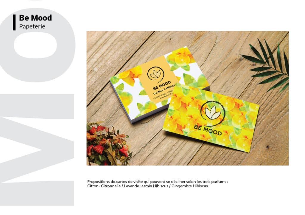 Be mood Charte Graphique parfum cartes de visite