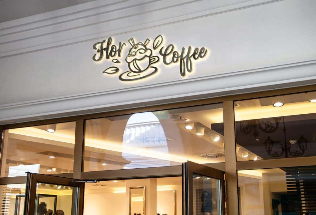 Flor Coffee belle devanture, logo, branding, graphiste, graphisme, Brand Identity