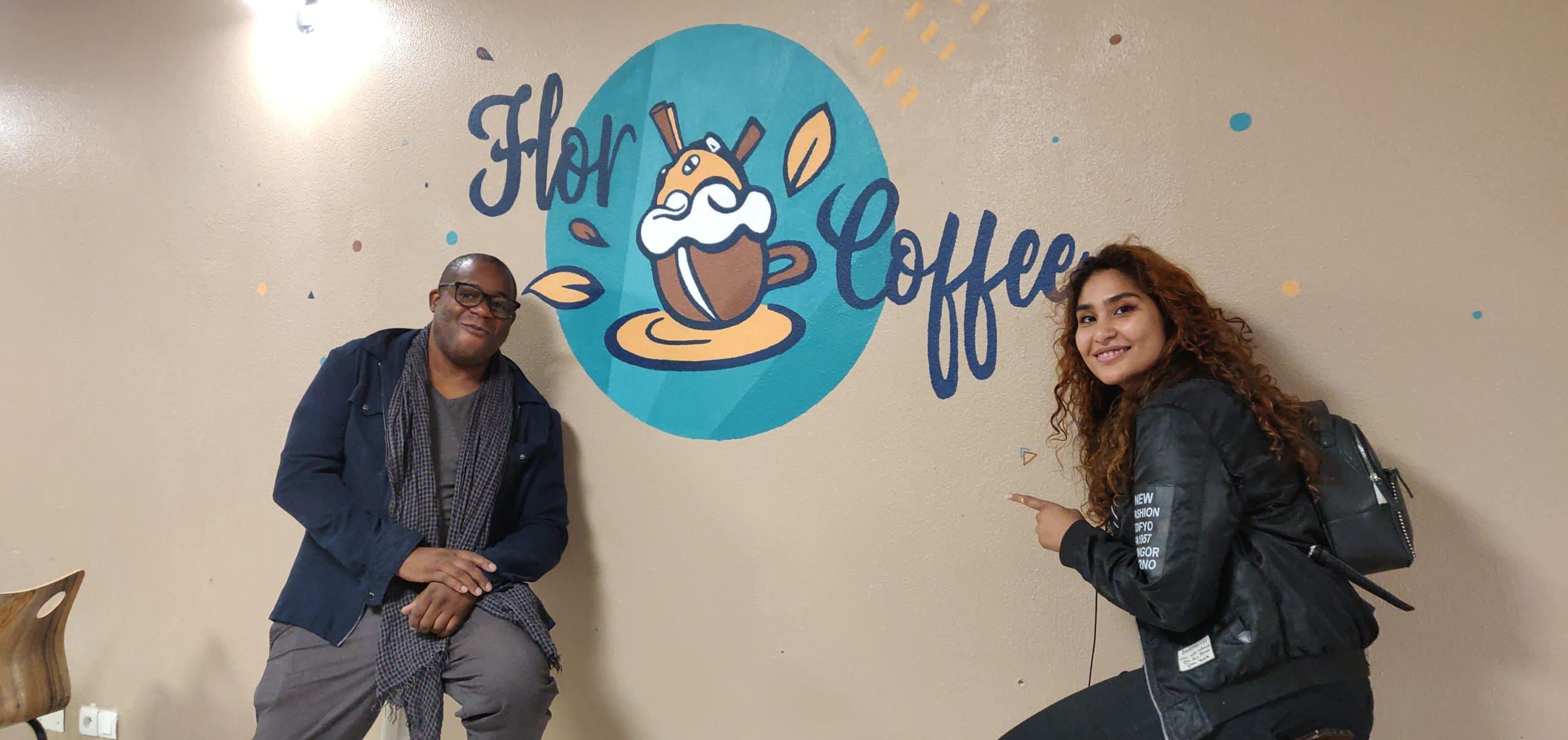 Fresque logo Flor Coffee