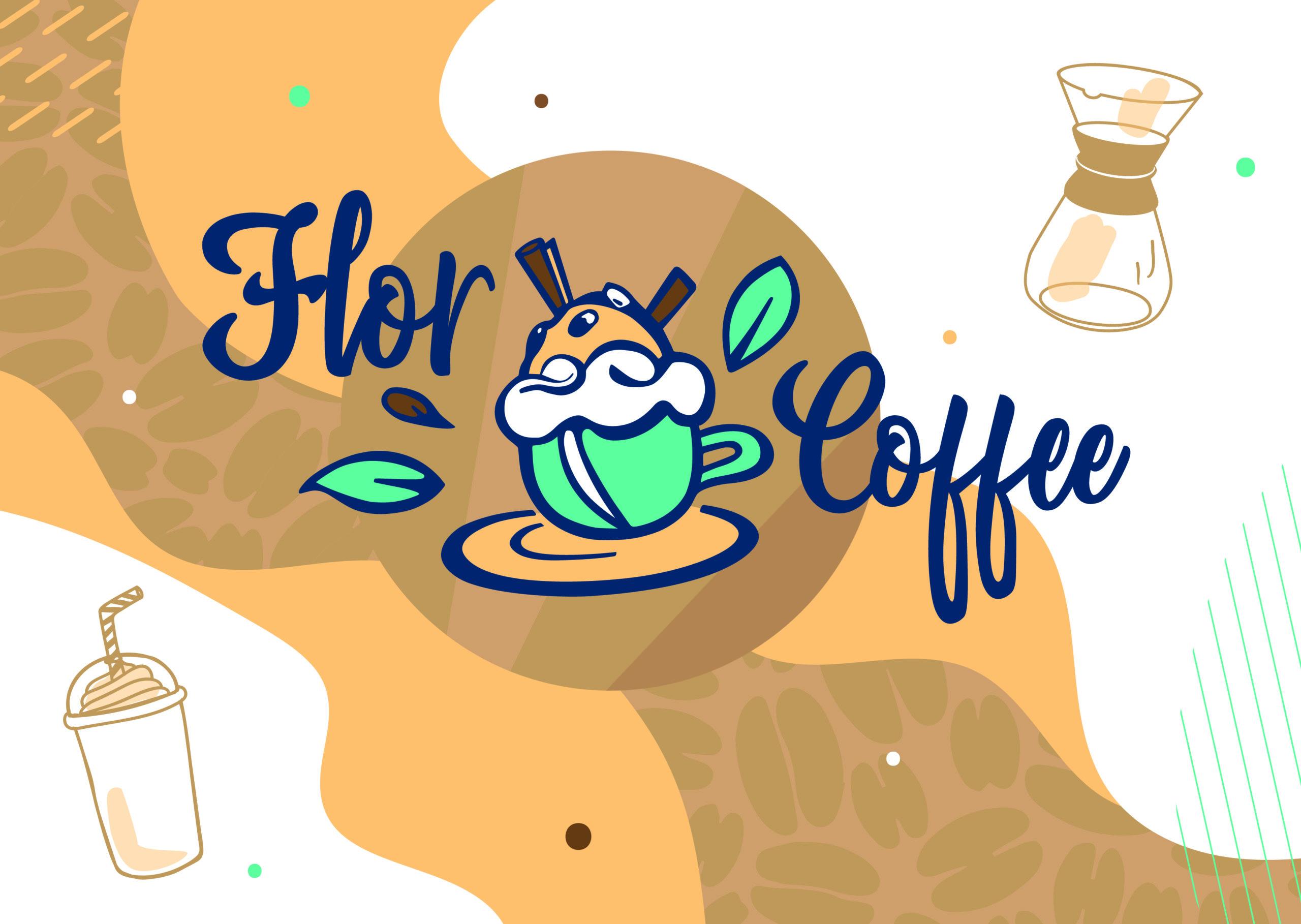 Identité Visuelle, Logo, Flor Coffee, Charte Graphique, illustrations, univers visuelle , image