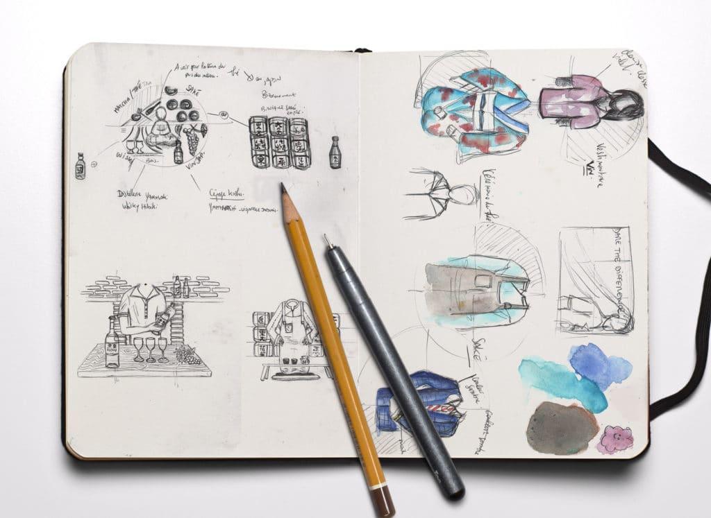 Croquis Illustratifs, Illustrations, Boissons Japonaises , sketching