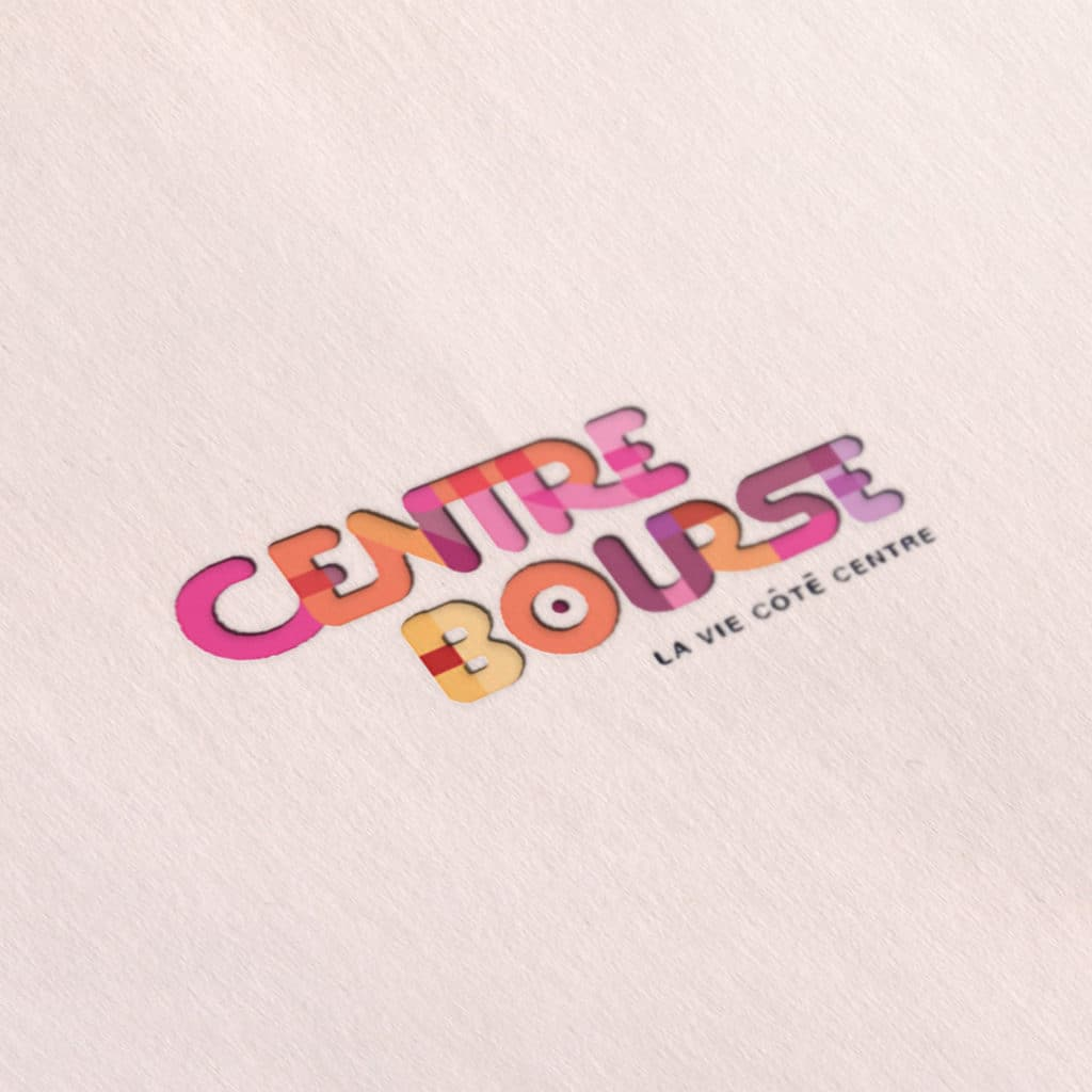 Centre Bourse Logo ,communication visuelle, branding, centre commercial, design