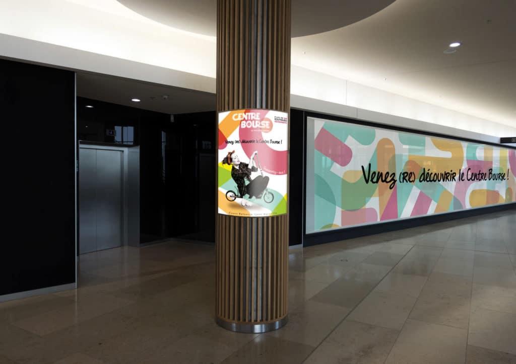 Centre Bourse, Centre Commercial, Affiche, affiche 4x3, Ambiance, Mise en siuation