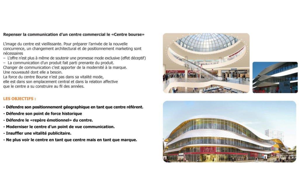 Planche Centre Bourse , objectifs , communication, communication visuelle, Marseille, campagne de communication