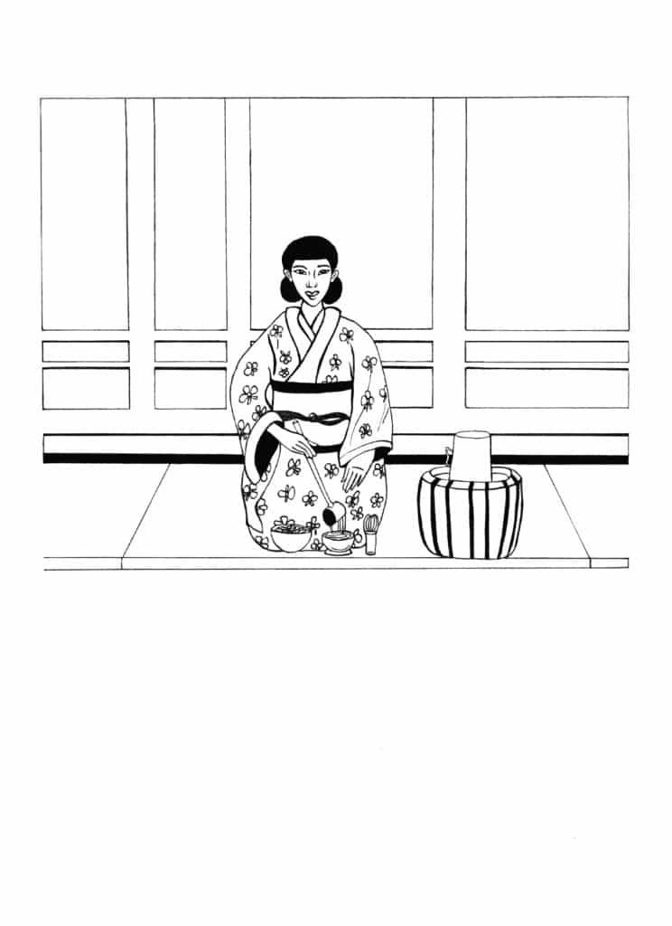 Cérémonie du Thé, Illustrations, matcha, dessin, croquis