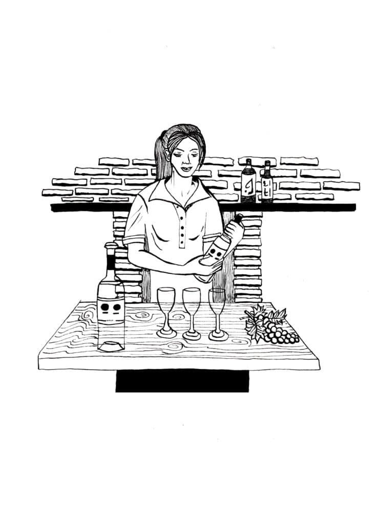 Illustrations, dessin, croquis, concept, créativité, imagination vin rouge