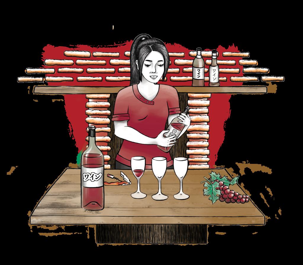 Illustration vin, Tonnellerie Demptos, Illustration Alizée Laurence