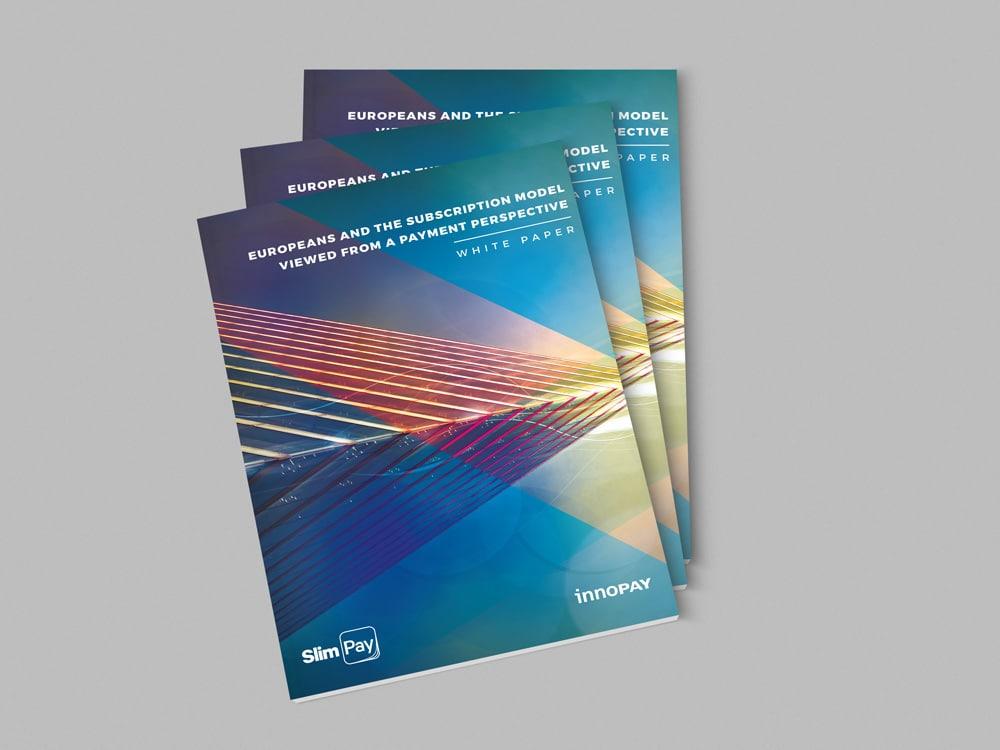 Le White Paper Project de Slimpay - Leader Européen économique conçu par la Graphiste Alizée Laurence