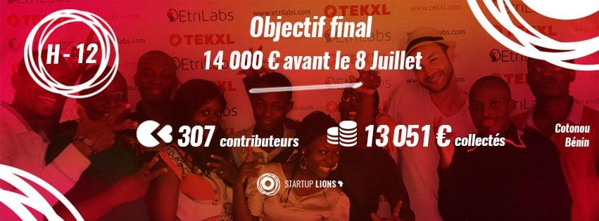 Start Up Lions Crowdfunding - Succès Projet Alizée Laurence & Samir Abdelkrim