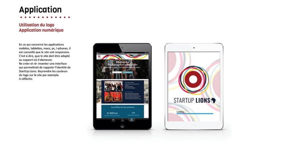 Application - Start Up lions Afrique - par Webdisner Alizée LAurence