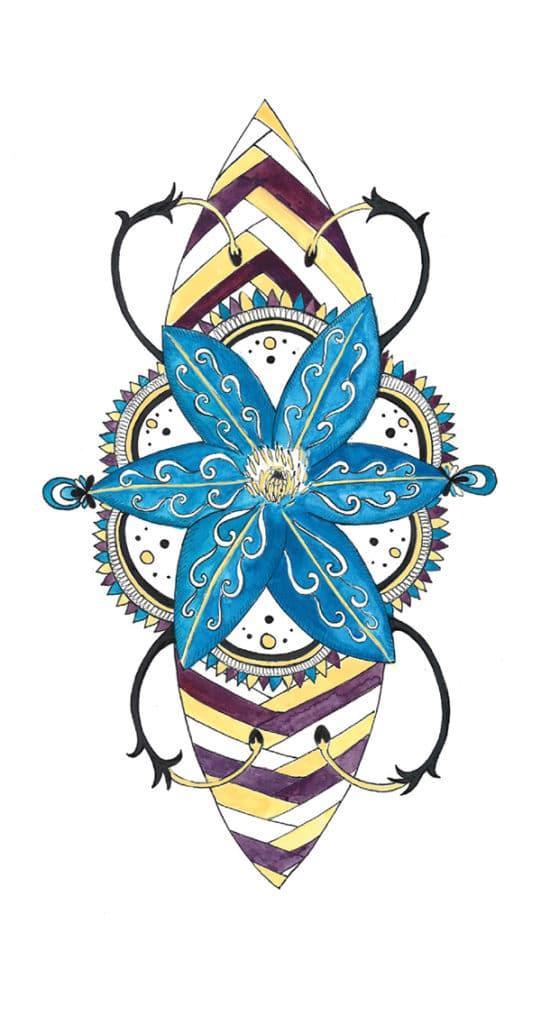 L'as - Oracle Tarot - Illustration par Alizée Laurence - Illustratrice