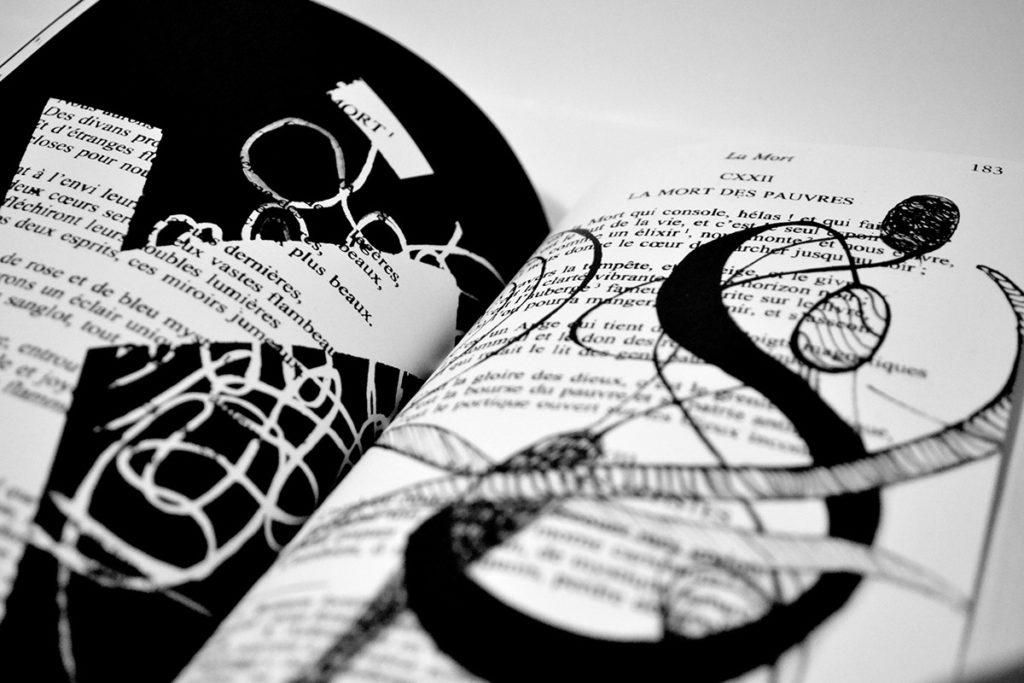 Les fameux poèmes de Baudelaire revisitées par l'illustratrice Alizée Laurence