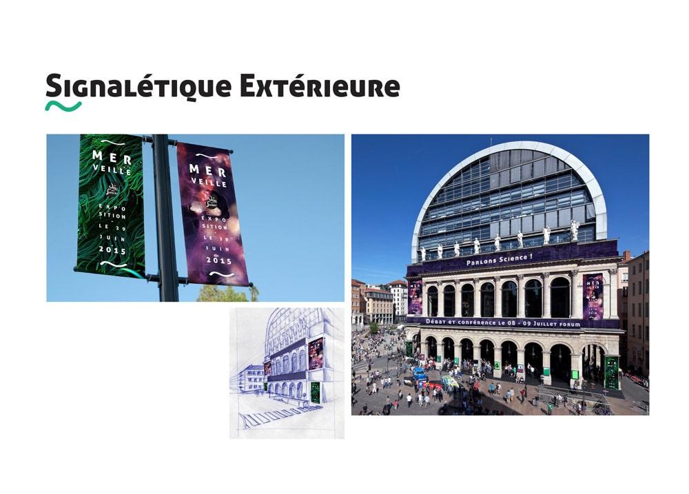 Signalétique extérieure - Quai des Savoirs - Alizée Laurence Graphiste