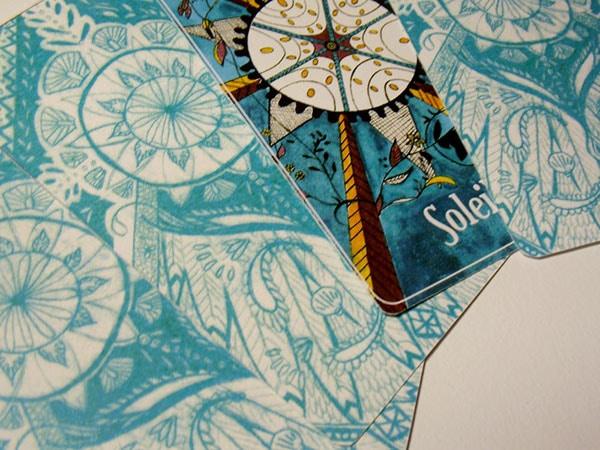 Le Soleil - Jeu de carte - Oracle Tarot - Illustratrice Alizée Laurence