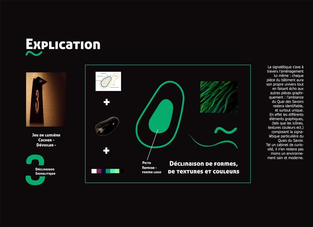 planche d'explication projet du quai des savoirs