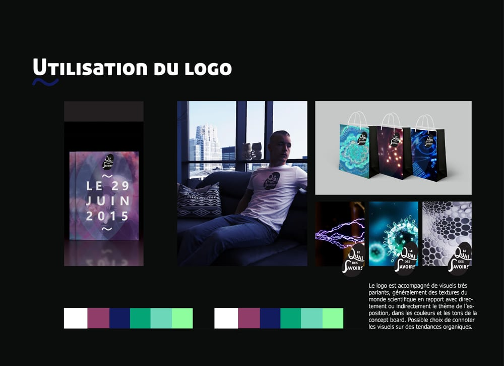 Identité Visuelle - Utilisation du logo - Quai des Savoirs Alizée Laurence - Graphiste