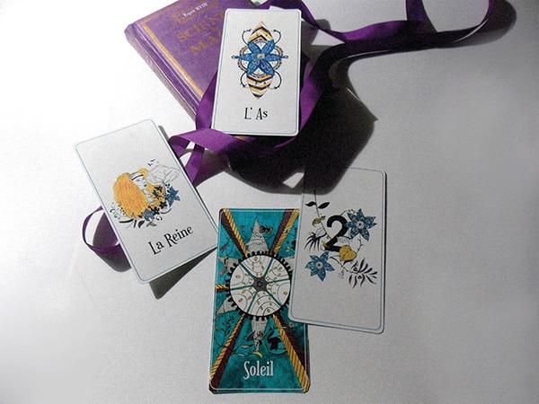 L'as, la Reine, Le soleil, Deux d'Orchidées Oracle Tarot - Illustratrice Alizée Laurence
