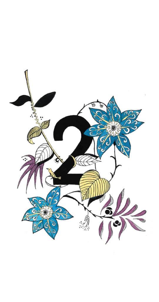 Deux D'Orchidées - Illustration par Alizée Laurence - Illustratrice
