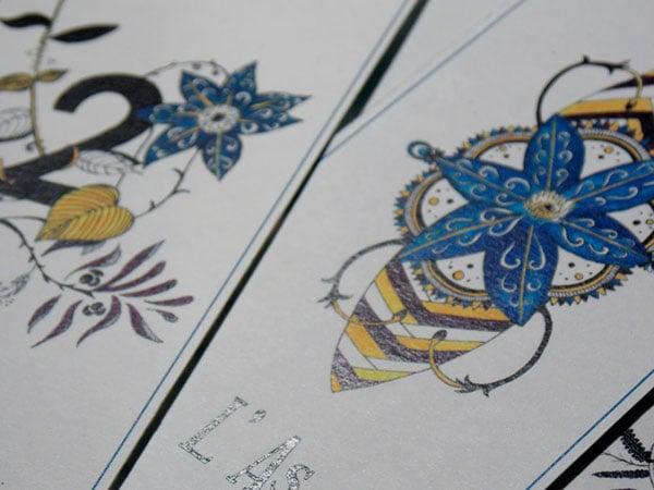 L'As et le Deux D'orchidées - Jeu de carte - Oracle Tarot - Illustratrice Alizée Laurence