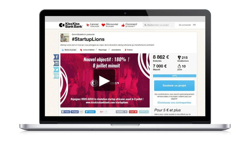 Campagne de crowdfunding mock up Start Up lions Alizée Laurence - Graphisme02